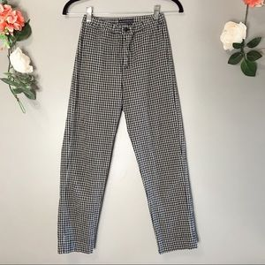 Brandy Melville | plaid high waisted pants